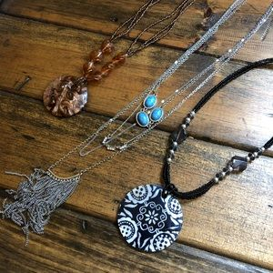 Three art-inspired necklaces